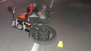 Imatge de la motocicleta que va atropellar al vianant