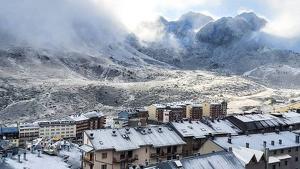 Imatge de la nevada al Pas de la Casa a Andorra