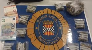 Imatge de les drogues intervingudes a Mollerussa