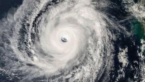 Imatge de satèl.lit del cicló tropical 'Kyarr' amb categoria 5