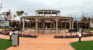 Imatge del jardí central de PortAventura Dreams.