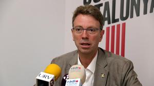 Imatge del número dos de JxCat per Tarragona a les eleccions del 10-N, Ferran Bel, en roda de premsa a Tarragona