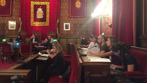 Imatge del plenari celebrat aquest dilluns a l'Ajuntament de Tarragona.
