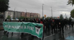 Imatge d'un dels piquets a Lleida