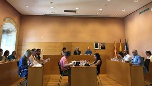 Imatge d'un ple de l'actual mandat a l'Ajuntament de Torredembarra.