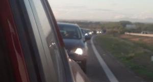 Imatge d'una de les marxes lentes a Lleida