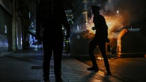 Imatges dels aldarulls i càrregues a Tarragona durant la nit del dimecres!