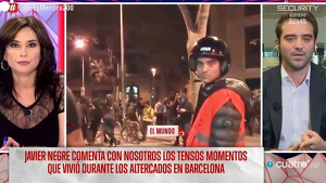 Javier Negre als aldarulls de Barcelona