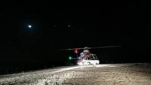 La aeronave Helimer que ha participado en el rescate