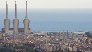 La central tèrmica d'Endesa a Sant Adrià del Besos