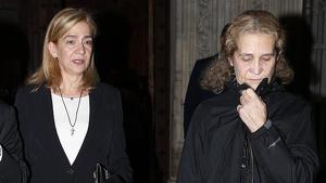 La infanta Cristina y la infanta Elena acuden juntas al funeral de Germán López Madrid