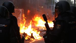 La policia ha disparat també contra periodistes a Barcelona