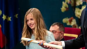 La princesa Elionor durant els Premis Princesa d'Astúries