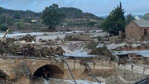 L'aiguat ha arrasat a Montblanc.
