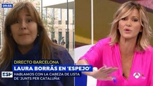 Laura Borràs y Susanna Griso han protagonizado un rifirrafe