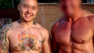 Leandro Matías, a la izquierda la imagen