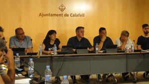 L'equip de govern de Calafell pel mandat 2019-2023, al ple d'aquest dijous.