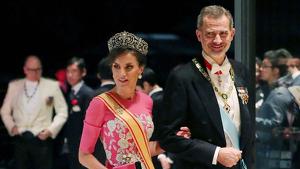 Letícia i Felip a la gala d'entronització de l'emperador Naruhito