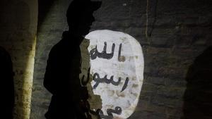 L'home hauria pintat diverses frases en àrab