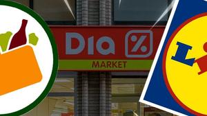 Lidl i Mercadona es mengen la quota de mercat de Dia