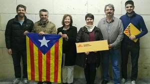 Lou Arans, tercera per la dreta, és la nova càrrec de confiança de l'Ajuntament d'Altafulla.