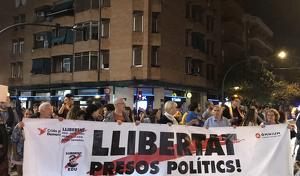 Manifestació contra la sentència del procés