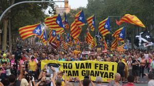 Tsunami Democràtic ha estat un dels impulsors de les grans manifestacions de rebuig a la sentència de l'1-O