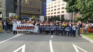 Manifestacio tallen plaça Imperial
