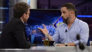 Pablo Motos incomodó a Abascal con una pregunta