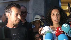 Patricia y Ángel tras conocer el veredicto del jurado
