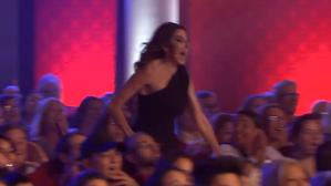 Paz Padilla salió corriendo por la platea del teatro