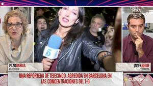 Pilar Rahola en el seu enfrontament amb Javier Negre