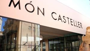 Pla general del futur Museu Casteller de Catalunya, que es construeix a Valls.