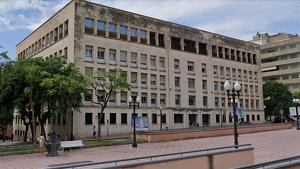 Pla general del Palau de Justícia de Tarragona.