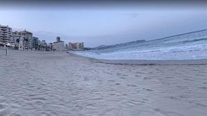 Playa de la Fossa, en Calpe