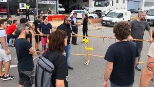 Policia, manifestants i conductors a Valls durant les concentracions d'aquest matí