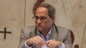 Quim Torra, durant la reunió del Consell Executiu