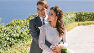 Rafa Nadal i Xisca Perelló feliços el dia del seu casament