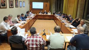 Reunió del Consell d'Alcaldes al Consell Comarcal de la Conca de Barberà.