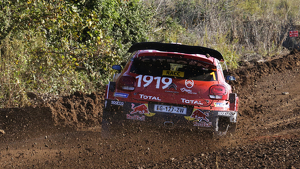Sébastien Ogier durant el 'Shakedown' del Rally RACC Catalunya-Costa Daurada 2019.