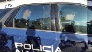 Sergio, novio de Dana, en su traslado a los juzgados de Vélez-Málaga
