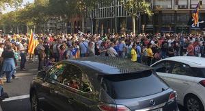 Talls de trànsit per les manifestacions