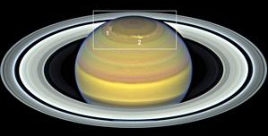 Tempesta polar de Saturn del 2018.