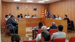 Una imatge del ple municipal de l'Ajuntament de Roda de Berà d'aquest dimecres, 30 d'octubre.
