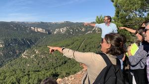 Visita a les pedreres De Lucas per observar el patrimoni natural d'Alcover.