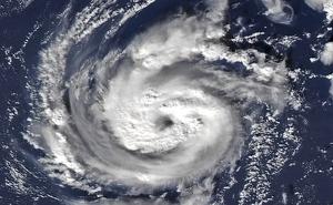 Vista del huracán Pablo desde una imagen de satélite este fin de semana
