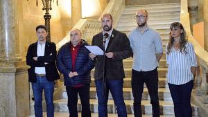 Xavi Puig ha llegit la declaració institucional de l'equip de govern de l'Ajuntament de Tarragona.