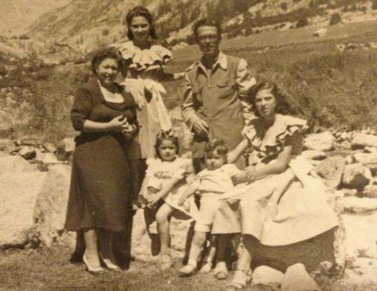 Antoni Campañá i Bandranas amb la seva família