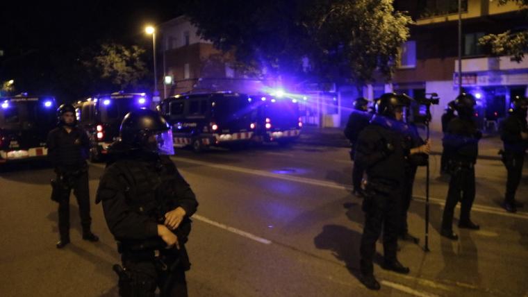 Cordó policial a Girona per la concentració dels CDR