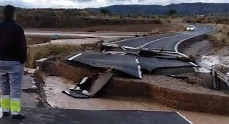 Imatge de la carretera entre Borges i Cervià